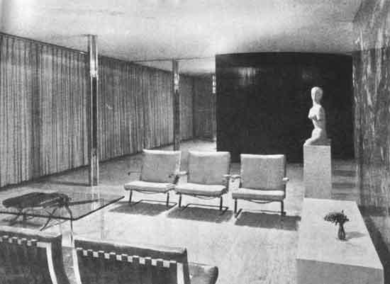 Mies van der rohe casa tugendhat berlino 1930 vista interna - Casa tugendhat mies van der rohe ...